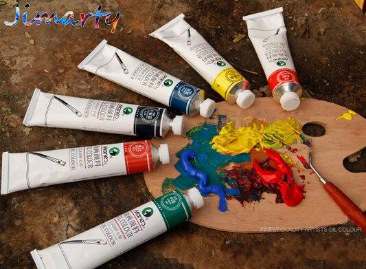 Profesional todos los colores 50ml cada tubo pinturas al óleo colores pintura pigmentos para dibujar suministros de arte AOA011