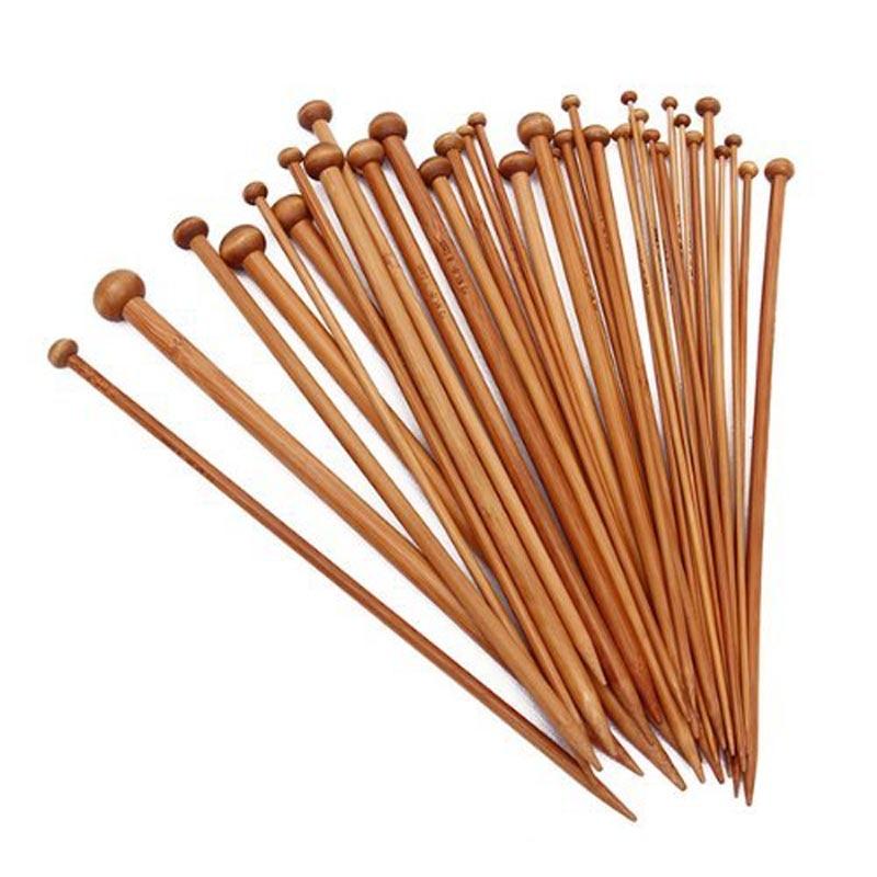 36vnt. 18 dydžių karbonizuotos bambuko vienos taškinės nėrimo - Menai, amatai ir siuvimas