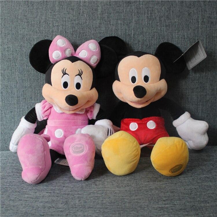 Haute qualité Original mickey mouse minnie mouse peluche douce poupée, mickey sturffed jouets cadeau pour enfants garçons filles cadeau d'anniversaire