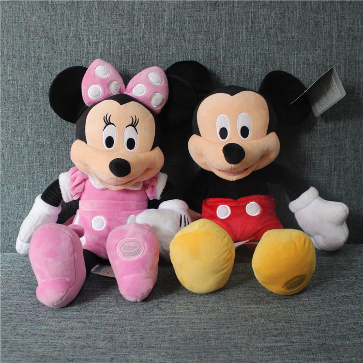 high quality Original mickey mouse minnie mouse plush soft doll,mickey sturffed toys gift for kids boys girls birthday gift 12pcs hair accessories mickey minnie mouse ears solid black sequins headbands headwear for boy girl birthday party celebration