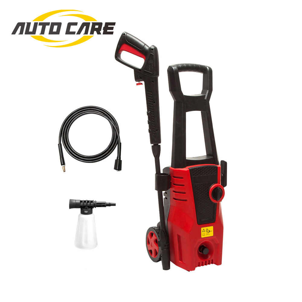 High Pressure Cleaner Car Washer 1400W 1600PSI 1.36GPM spray gun detergent bottle turbo water hose self-washing machine