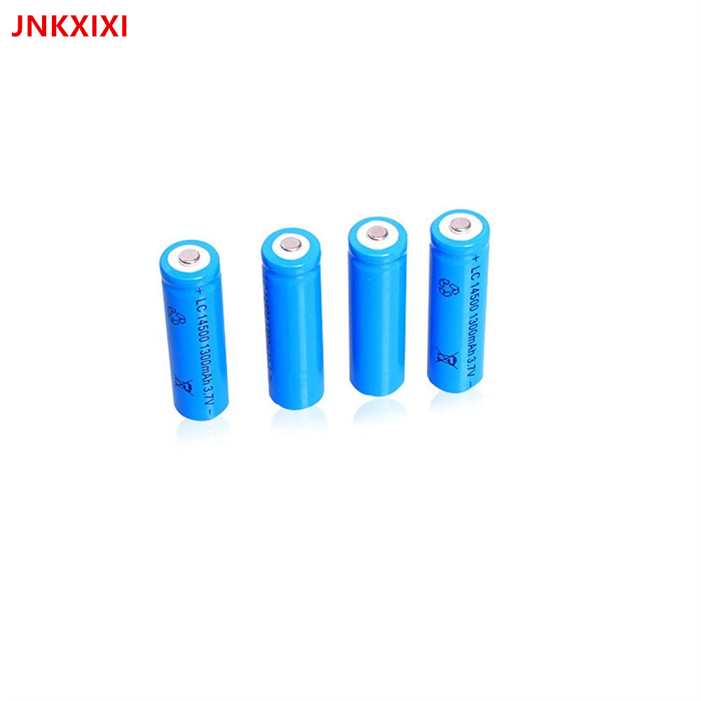Free Shipping 3PCS 14500 Rechargeable Battery li ion 1300mAh Batteries Bateria Li-ion Lithium Battery for Flashlight image