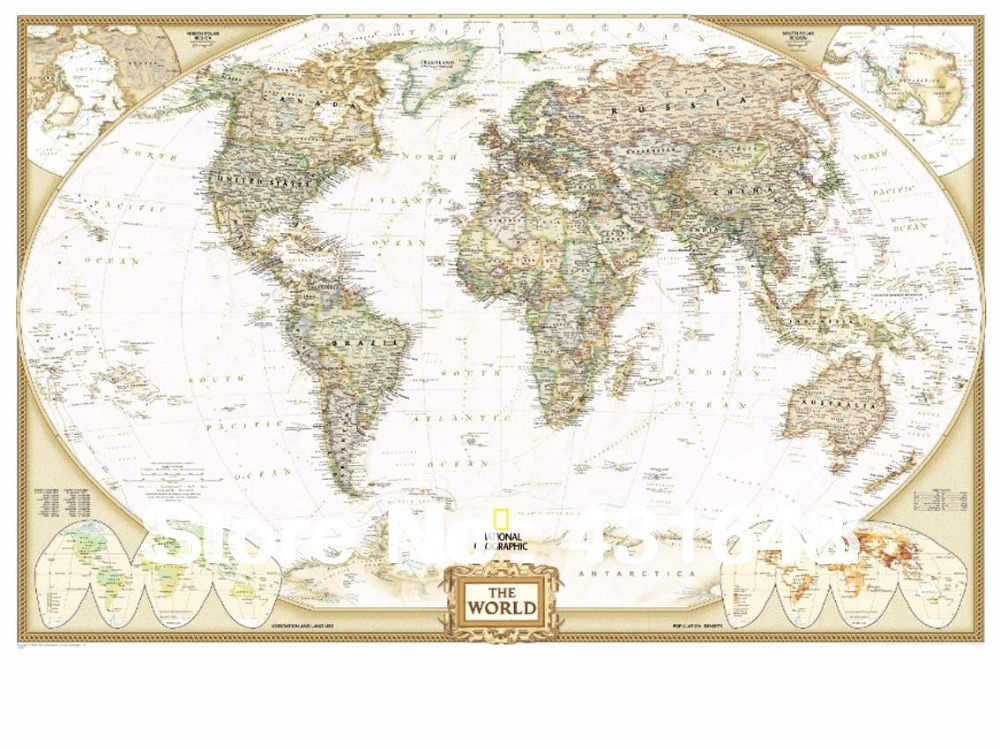2016 vintage world map poster poster personalized home decor