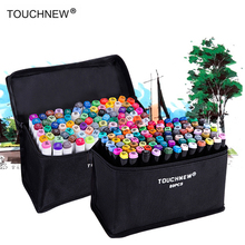 Touchnew Marker Artist Double Tip Sketch Marker Set 36/48/72/80/168 Colors Alcohol Based Manga Art Markers for Drop shipping