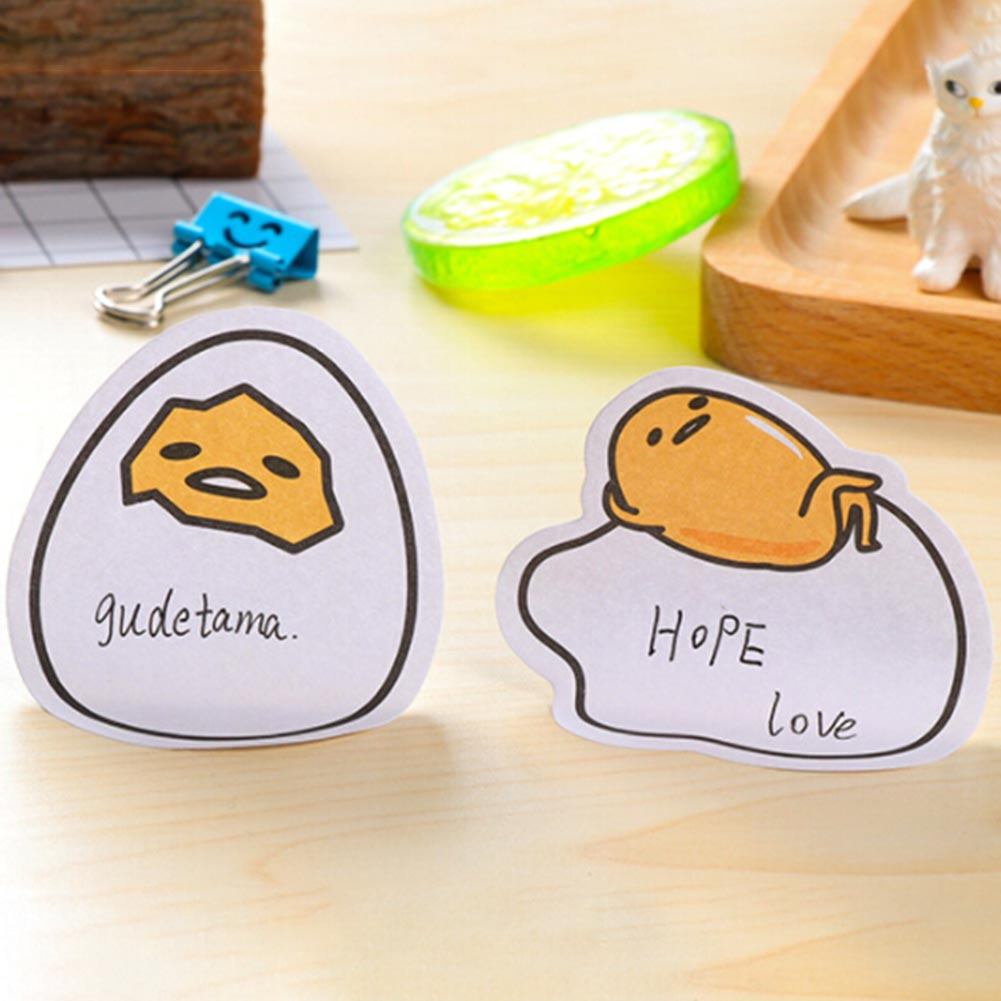 4 Pcs/set Cute Kawaii Lazy Egg Self-Adhesive Memo Pads Sticky Notes Post It Decorative Bookmark School Office Supplies