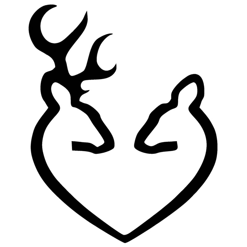 deer browning heart vinyl car decal sticker highest quality black in rh aliexpress com Girl Browning Symbol browning heart symbol with names