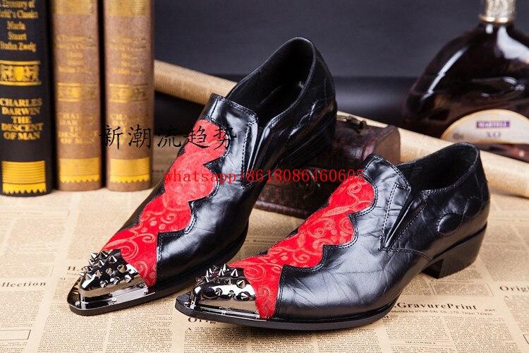 Preto Formal Homens Choudory Plus Dura Sapato Dos Mocassins Brogue Couro Bordado Chegada Mens De Vestido Novo Esculpida Size Sapatos Vermelho xYqPOYw4