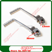 Stainless Steel 13/16mm holes Kick start starting lever for 50cc-160cc Kayo Apollo Bosuer Xmotos dirt bike pit bikes spare parts crf klx pit pro xmotos bse kayo pit dirt bikes parts most aluminum alloy folding clutch lever brake lever set free shipping