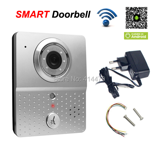 Wireless Wifi Doorbell Video Doorphone Intercom IP Camera Mobile 3G Smart Phone Control Recording Take Pictures