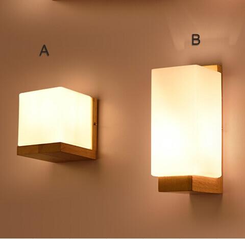 moderne holz wandleuchte glas lampenschirm ac110 240v hohe, Deko ideen