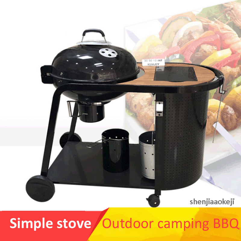 Courtyard barbecue Grill Large Queen Grill Outdoor Garden Plus European Deluxe Grill Easy move Trolley furnace grilling stoveCourtyard barbecue Grill Large Queen Grill Outdoor Garden Plus European Deluxe Grill Easy move Trolley furnace grilling stove