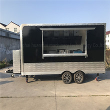 4.8M Custom Made Mobile Food Trucks Concession Food Trailers Catering Street Food Carts Corner filleted Design