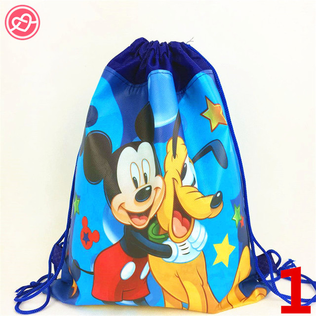 28*35cm Mickey Minnie Mouse Christmas Gifts bag Fabric Backpack ...