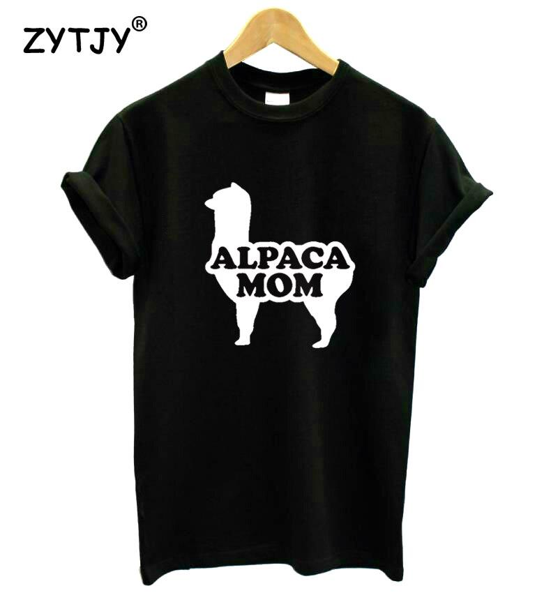 Alpaca Mom Print Women Tshirt Cotton Funny T Shirt For Lady Girl Top Tee Hipster Tumblr Drop Ship HH-186