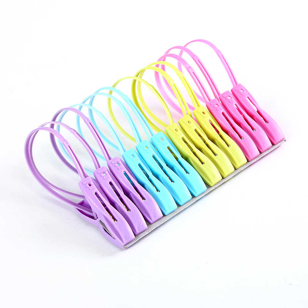 12pcs/lot Household Food Storage Sealing Bag Clips Sealer Clamp Food Bag Clips Kitchen Tools Close Clip Seal