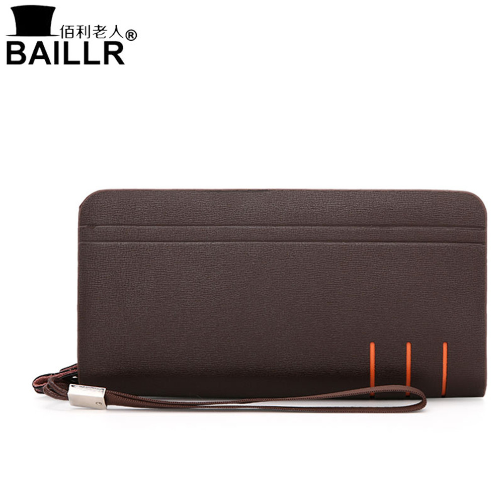 New Luxury Double Zipper Men Leather Business Clutch Bag Handbag Men Leather Wallet Male Purse Large Capacity Carteira Masculina high quality authentic famous polo golf double clothing bag men travel golf shoes bag custom handbag large capacity45 26 34 cm