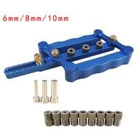 6 8 10mm Self Centering Dowelling Jig Set Metric Dowel Drilling Hand Tools Set Power Woodworking