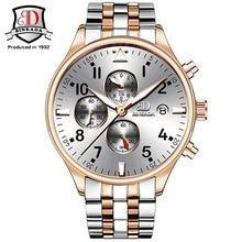 Binkada top Luxury Watch Men Brand Chronograph Sport Watches for Men Clock Stainless Steel Quartz Wristwatch relogio masculino