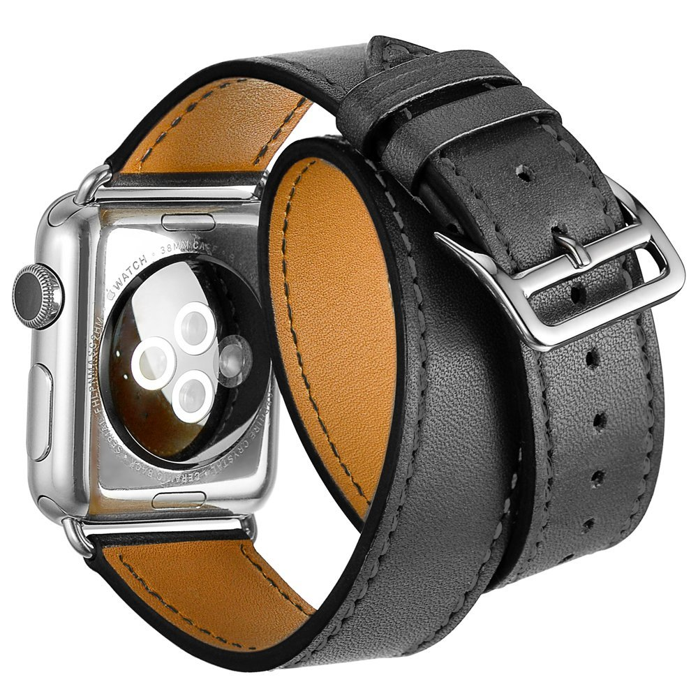 V-MORO 2017 Newest TOUR WATCH STRAPS For APPLE WATCH 42MM Double HOUR BAND Bracelet Genuine LEATHER For APPLE WATCH CORREAS 38mm