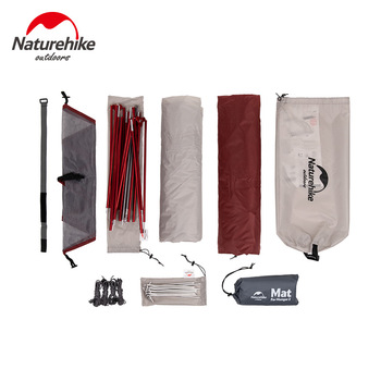 Naturehike Custom Mongar 2 3 Person Waterproof Double Layer Outdoor Tent Aluminum Rod Gray Ultralight Camping Tents Mat e-EMS 4