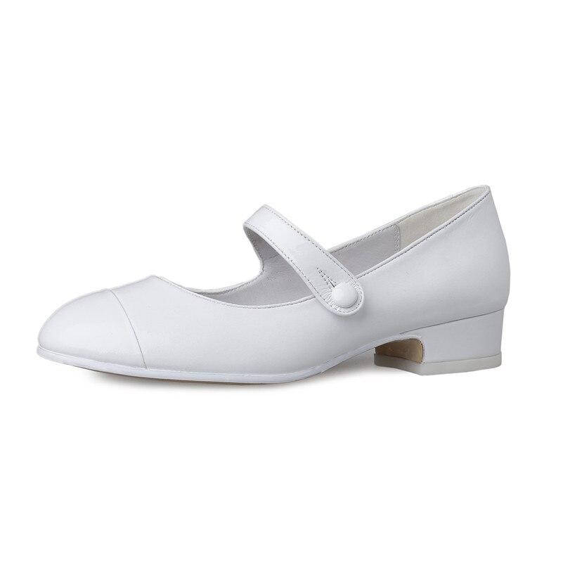 FEDONAS Neue Mode Pumps Mary Jane Silber Weiß Party Hochzeit Schuhe Frau Dicken Absätzen Frühling Sommer Neue Schuhe Weibliche Pumpen-in Damenpumps aus Schuhe bei  Gruppe 2