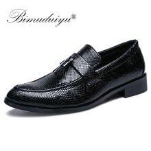 ea6e96ea BIMUDUIYU de microfibra de cuero Formal de negocios Oxfords zapatos de  estilo italiano hechos a mano vestido de los hombres calz.