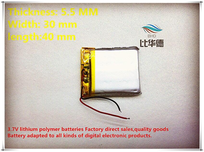 Begeistert 533040 553040 600 Mah Lithium-ionen Polymer Batterie Qualität Waren Qualität Von Ce Fcc Rohs Zertifizierung Behörde Mit Dem Besten Service Digital Batterien