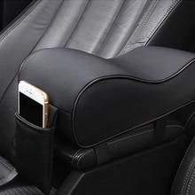 Car Universal Soft Comfortable Asymmetric Armrest Increase Box Mats Interior Pad Set PU Leather Styling Top Mat Liner