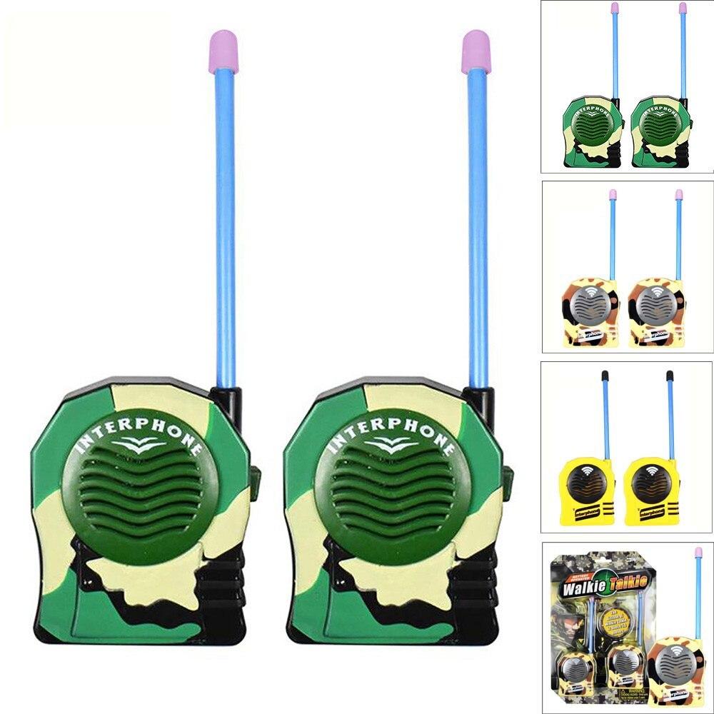 Trendmarkierung 2 Stücke Drahtlose Walkie Talkie Kinder Elektronische Spielzeug Portable Two-way Radio Cc # Dropship