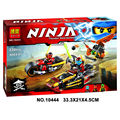 2016 Nueva BELA 10444 Moto Ninja Building Blocks Set 3 En 1 Hoja de Kai chase Edificable Figuras Compatible