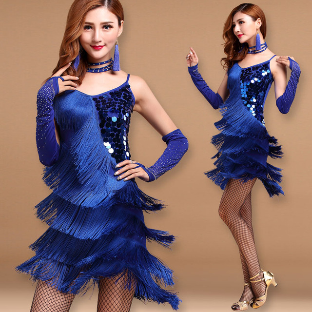 Tassel For Women Ballroom Lady Clothes Tango Dresses Adult Sexy