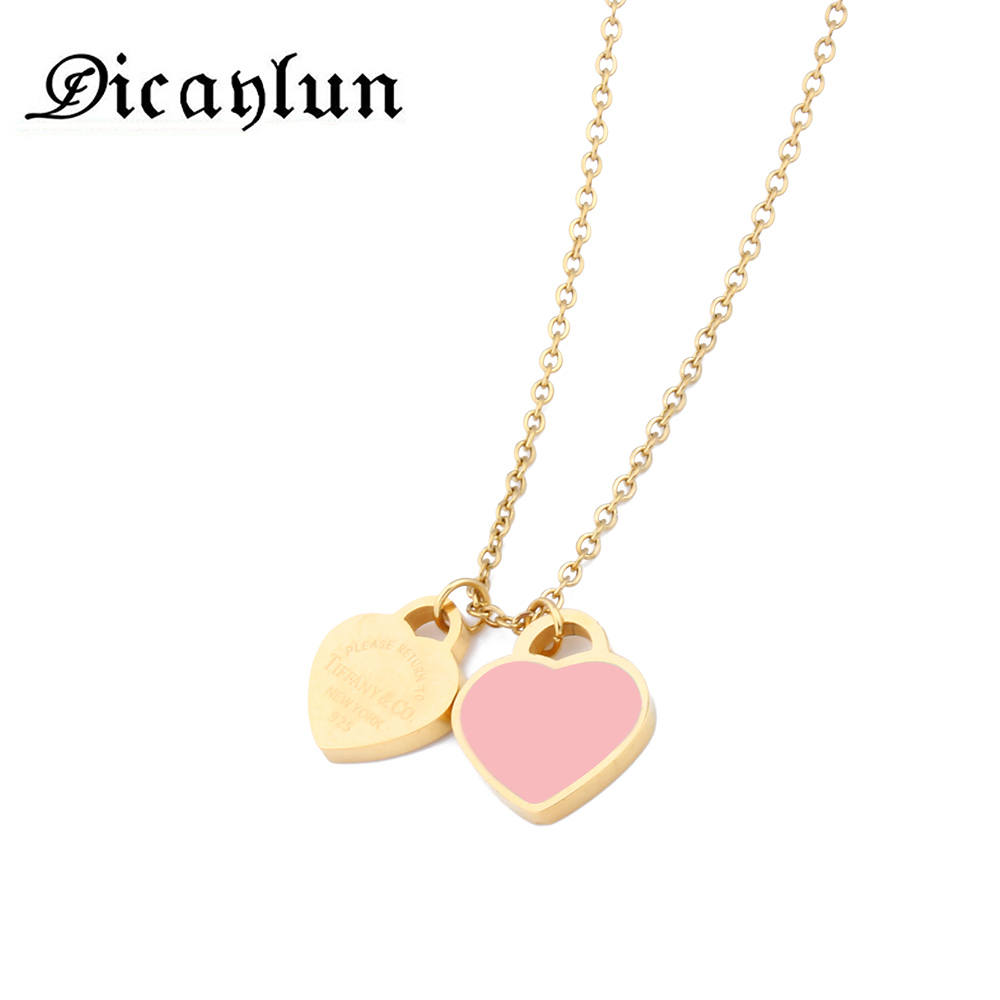 DICAYLUN women's clothing accessoriesnecklaces & pendantsheart pendant stainless steel chainjewerly stainless steel jewelry