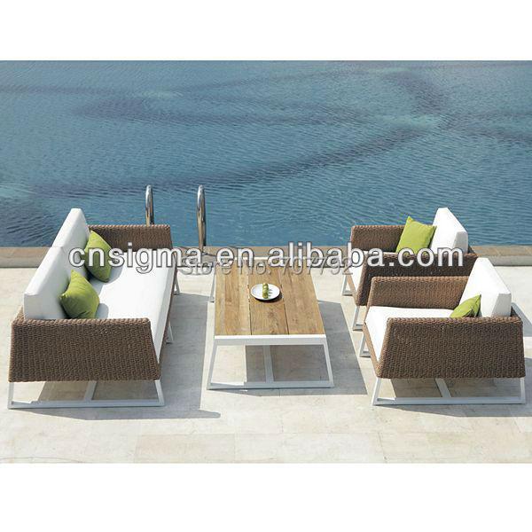 2017 Top Sale Weather Rattan Patio Furniture Lounge Sofa Set