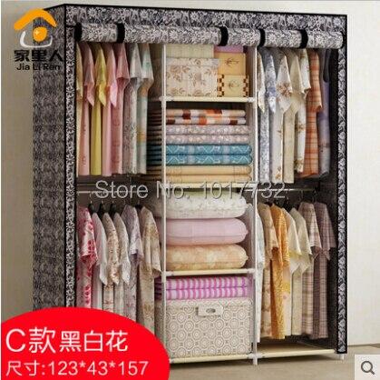 Free shipping! Large cloth wardrobe Large steelframe ...