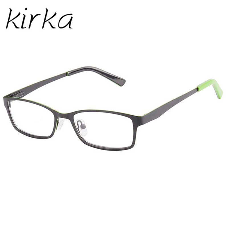 a935cc927034 Kirka Healthy Kids Eyeglasses Children Metal Plain Glasses Frame Optical  Prescription Eyewear Frames Girls Boys Black