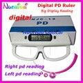 Цифровой PD правитель правый и левый зрачка отображается отдельно оптометрия правитель измеритель тестер цифровой Pupilometer NJC12