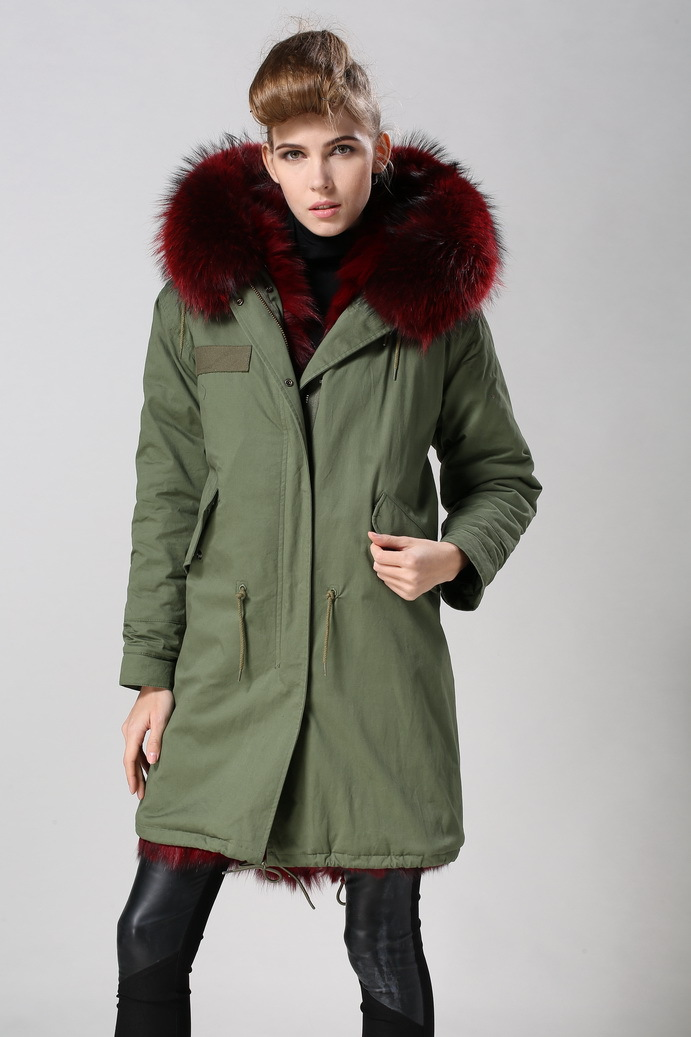 new arrival style coats popular colour wine red parka coats for ...