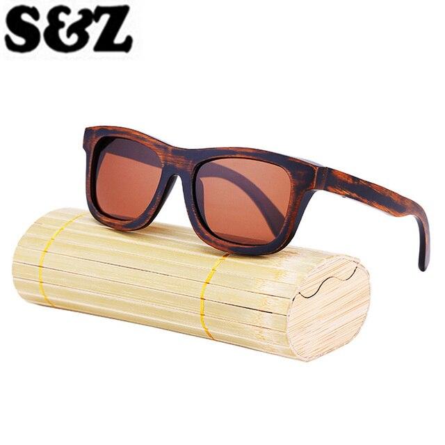 6aadcaed37b9b5 Merk Designer Originele Bambooo Houten Zonnebril Mannen Vrouwen Hand Made  Fashion Vintage Zonnebril Gepolariseerde Spiegel Houten