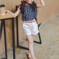 2018 Summer Children Clothing Baby Girls Sets Floral Suit Lady Bug Floral Kids Clothes Tracksuit T