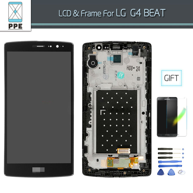 ФОТО New Original Replacement For LG G4 mini G4 Beat G4c H525N LCD Display Touch screen Digitizer Assembly with frame Free Shipping