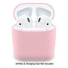 Para Apple Airpods 1 2 funda Air Pods Auriculares inalámbricos con Bluetooth caja de carga Gel silicona a prueba de golpes Piel de transporte rosa