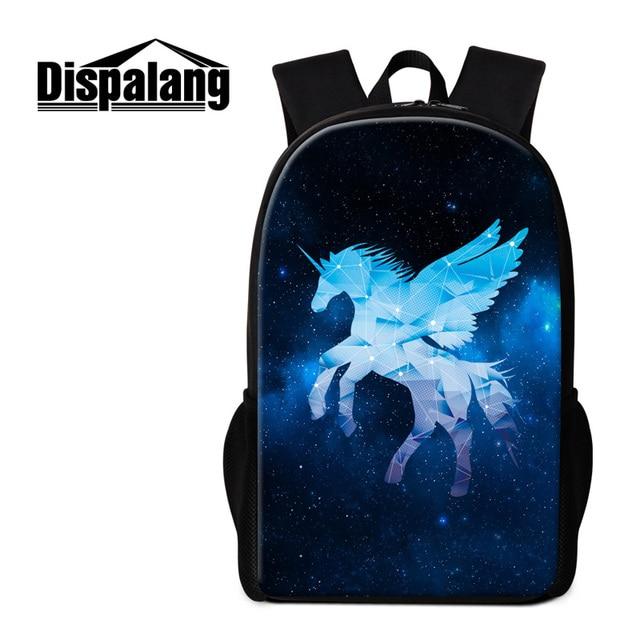 Dispalang Animal Print School Bookbags Children Duffle Backpack Unicorn  Pattern Casual Rucksack Girls Bagpack Kids Cute bb42db1e909eb