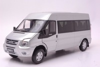1:18 Diecast Model for Ford Transit Silver MPV Alloy Toy Car Miniature Collection Gift Van