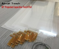 50 inch 20 points capacitive touch foil holographic foil transparent usb interactive touch film touch screen film