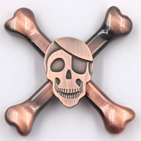 YARD Anti Stress Skull Spinner Fidget Metal Mini Head Spinners Metal Hand Spinner For Autism And