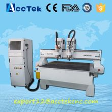 Economic Model cnc lathe machine prices 1313 cnc router machine for sale Double head 2.2kw for wood working