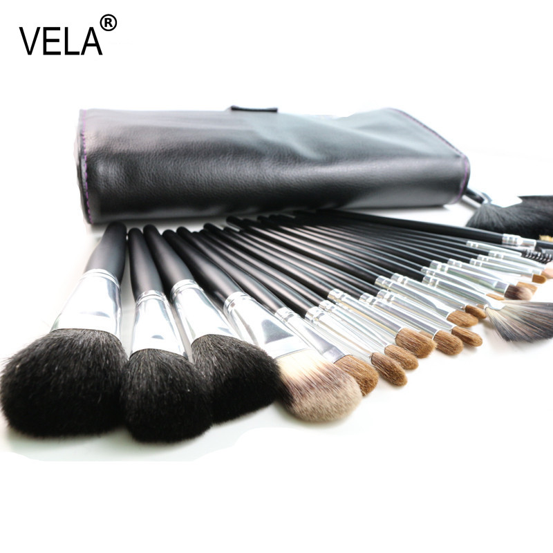High Quality Full Function Makeup Brushes Set 23 Pieces Nature Hair Makeup Tools Kit With Case soft synthetic makeup brushes set 12 pieces makeup tools kit pink with case