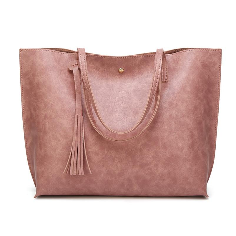 Nevenka Leather Handbag Women Casual Totes Female Shopper Ladies Shopping Bags Large Capacity Bags Vintage Bag for Women 201815