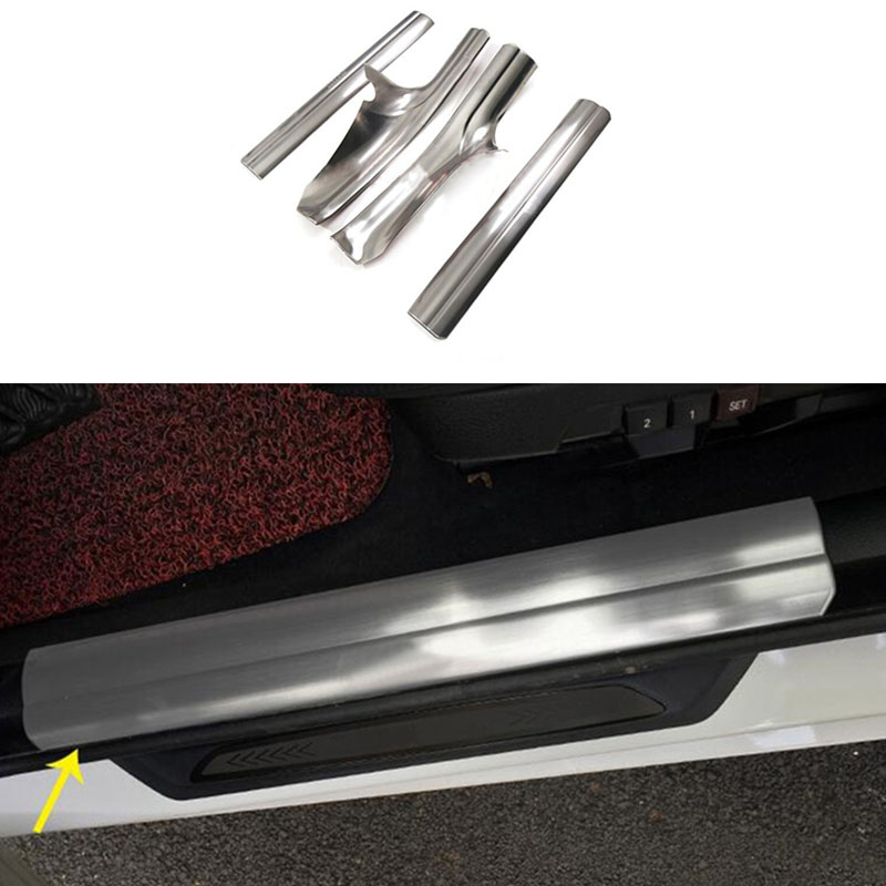 Back To Search Resultsautomobiles & Motorcycles 4pcs Inner Scuff Plate Door Sill Trim Cover Pad For Bmw 3 Series Gt F34 14-2017