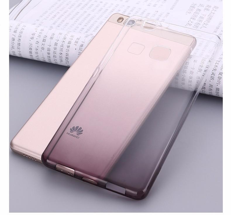 Ultra-cienki przezroczysty miękka tpu case dla huawei p8 p9 plus p8 lite krzemu gradientu telefon ochronna pokrywa dla huawei p9 Shell 20